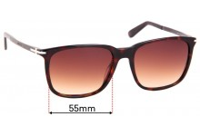 Sunglass Fix Sunglass Replacement Lenses for Gucci GG 1104/S - 55mm Wide