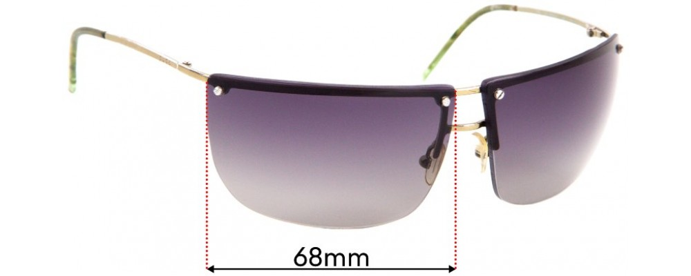 Sunglass Fix Sunglass Replacement Lenses for Gucci GG 2652/S - 68mm Wide