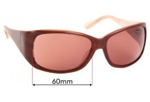 Sunglass Fix Sunglass Replacement Lenses for Juicy Couture Sweetest - 60mm Wide