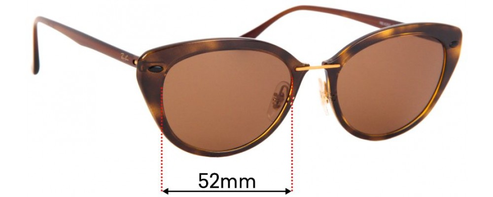 Sunglass Fix Sunglass Replacement Lenses for Ray Ban LightRay RB4250 - 52mm Wide
