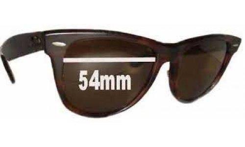 Sunglass Fix Sunglass Replacement Lenses for Ray Ban Wayfarer I Bausch and Lomb - 54mm wide x 42mm high