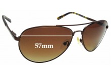 Sunglass Fix Sunglass Replacement Lenses for PolarOne P1-1131B -57mm Wide