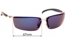 Sunglass Fix Sunglass Replacement Lenses for Chanel 4008 - 67mm Wide