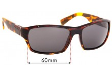 Sunglass Fix Sunglass Replacement Lenses for Serengeti Gio - 60mm Wide