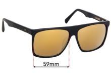 Sunglass Fix Sunglass Replacement Lenses for AM Eyewear Cobsey - 59mm Wide