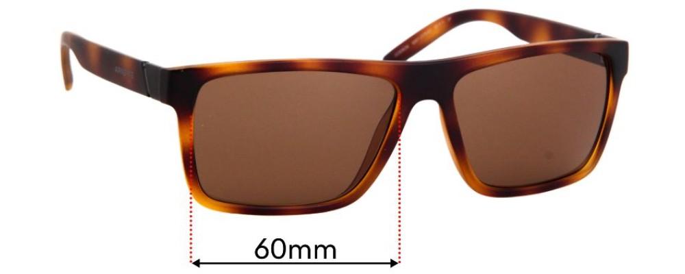 Sunglass Fix Replacement Lenses for Arnette Goemon AN4267 - 60mm Wide