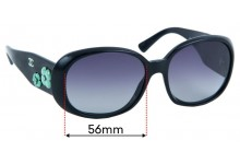 Sunglass Fix Sunglass Replacement Lenses for Chanel 5113 - 56mm Wide