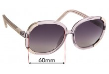 Sunglass Fix Sunglass Replacement Lenses for Chloe CL 2119 - 60mm Wide