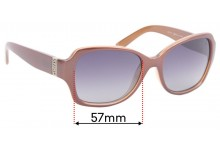 Sunglass Fix Sunglass Replacement Lenses for DKNY DY4111 - 57mm Wide