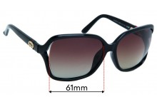 Sunglass Fix Replacement Lenses for Gucci GG3658/F/S - 61mm Wide
