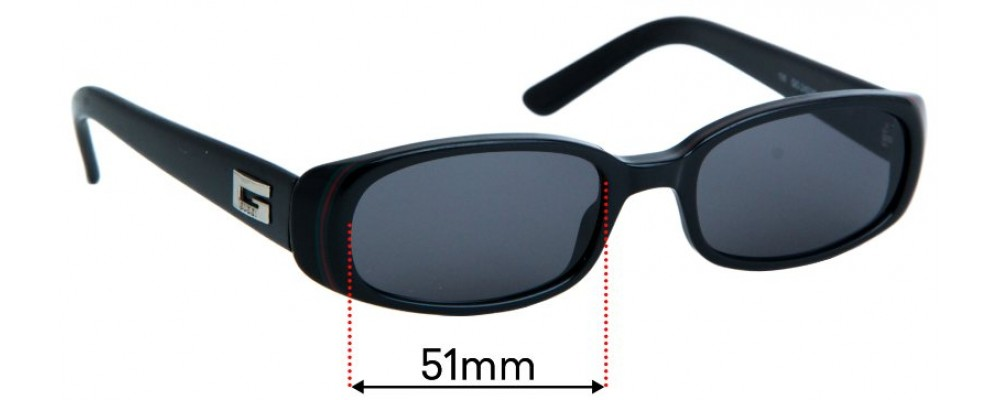 Sunglass Fix Replacement Lenses for Gucci GG2452/S - 51mm Wide