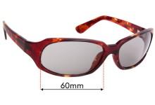 Sunglass Fix Sunglass Replacement Lenses for Maui Jim MJ110 Navigator - 60mm Wide
