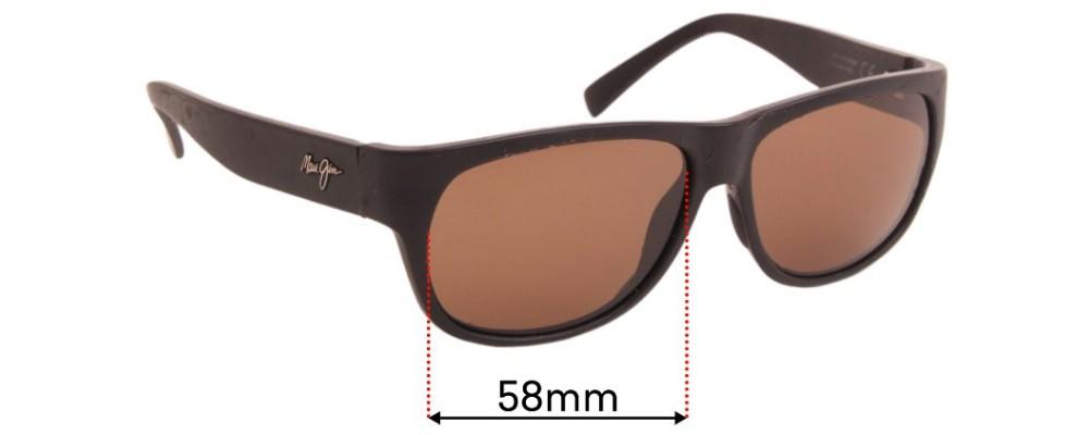 Sunglass Fix Sunglass Replacement Lenses for Maui Jim Makawao MJ282 - 58mm Wide