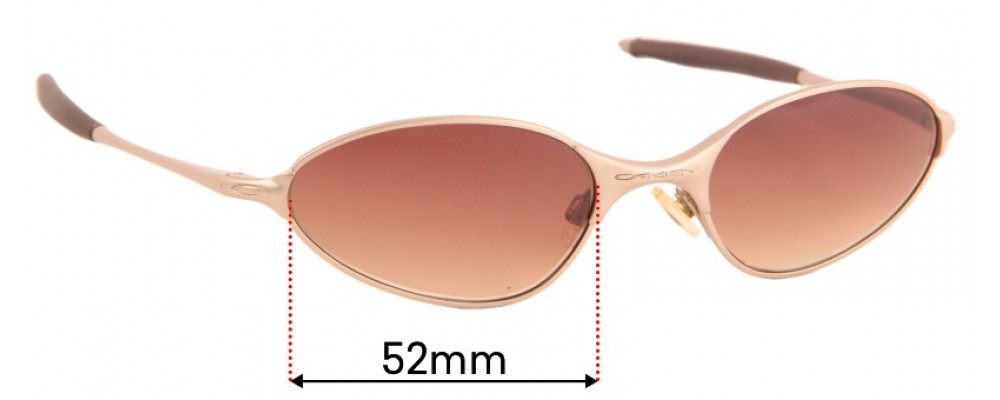 Sunglass Fix Sunglass Replacement Lenses for Oakley C-Wire Rx - 52mm Wide
