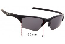 Sunglass Fix Sunglass Replacement Lenses for Oakley Half Jacket XLJ - 60mm Wide