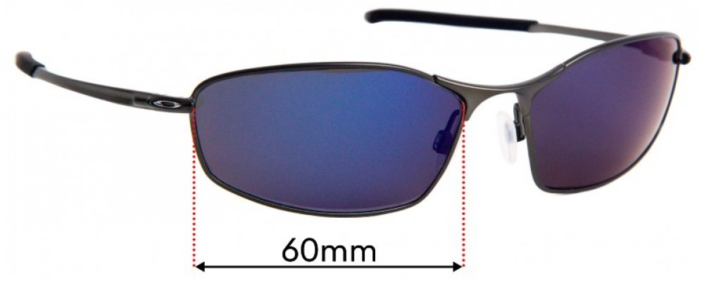 Sunglass Fix Sunglass Replacement Lenses for Oakley Whisker OO4141 - 60mm Wide