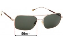 Sunglass Fix Sunglass Replacement Lenses for Oliver Peoples West De Oro OV1149S - 56mm Wide