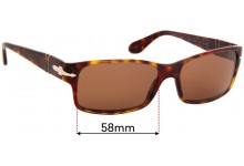 Sunglass Fix Sunglass Replacement Lenses for Persol 2803-S - 58mm Wide