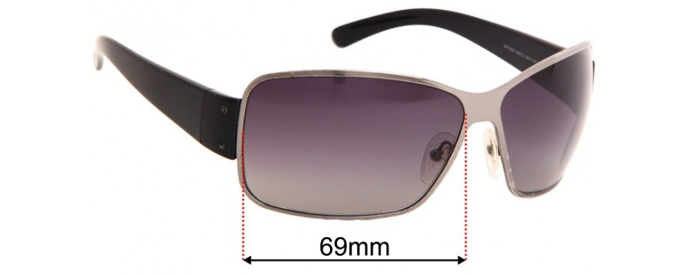 Sunglass Fix Sunglass Replacement Lenses for Prada SPS56G - 69mm Wide
