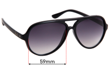 Sunglass Fix Sunglass Replacement Lenses for Ray Ban RB4125 Cats 5000 - 59mm Wide