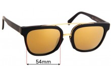 Sunglass Fix Sunglass Replacement Lenses for Retro Super Future Akin - 54mm Wide