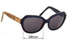 Sunglass Fix Sunglass Replacement Lenses for Tory Burch TY7071 - 58mm Wide