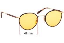 Sunglass Fix Sunglass Replacement Lenses for Garrett Leight Wilson - 49mm Wide