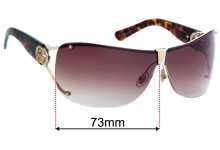 Sunglass Fix Replacement Lenses for Gucci GG2807/S - 73mm Wide