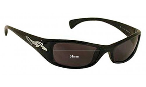 Sunglass Fix Sunglass Replacement Lenses for Arnette AN4041 Sunglass Replacement Lenses 54mm wide