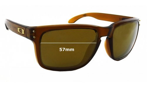 Sunglass Fix Sunglass Replacement Lenses for Oakley Holbrook OO9102 - 57mm Wide