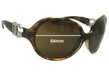 Sunglass Fix Sunglass Replacement Lenses for Dolce & Gabbana DG6030 - 64mm Wide
