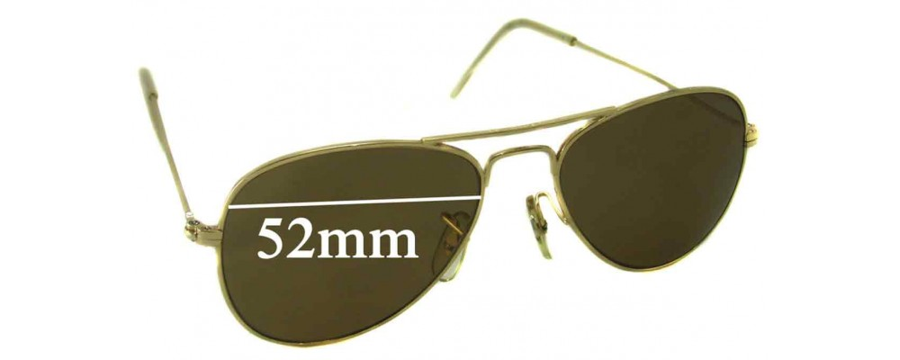 b9eaf755f4 Ray Ban Aviators Bausch Lomb USA Sunglass Replacement Lenses 52mm Wide