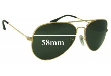 Sunglass Fix Sunglass Replacement Lenses for Ray Ban B&L RB3025L - 58mm Wide