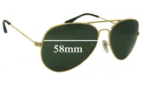 Sunglass Fix Sunglass Replacement Lenses for Ray Ban RB3025L Bausch Lomb - 58mm wide
