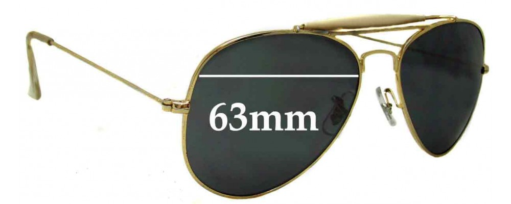 Sunglass Fix Sunglass Replacement Lenses for Ray Ban B&L RB3029 - 63mm Wide