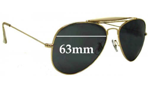 Sunglass Fix Sunglass Replacement Lenses for Ray Ban RB3029 Bausch Lomb - 63mm wide