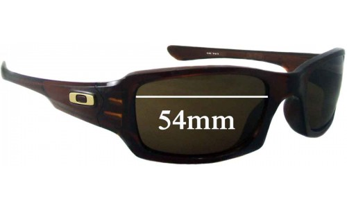 Sunglass Fix Sunglass Replacement Lenses for Oakley Fives Squared oo9238 - 53mm-54mm Wide