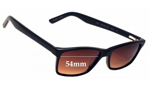 Sunglass Fix Sunglass Replacement Lenses for 7 for All Mankind 763  - 54mm Wide