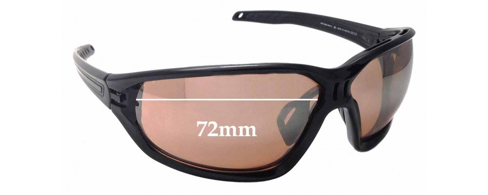 new arrival 8faf6 88234 Sunglass Fix Sunglass Replacement Lenses for Adidas Evil Eye Evo L A418  6055  6057 Sunglass Replacement Lenses- 72mm wide Please measure as there  are ...