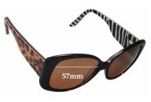 Sunglass Fix Sunglass Replacement Lenses for Alex Perry AP Sun Rx 21 - 57mm Wide