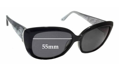 Sunglass Fix Sunglass Replacement Lenses for Alex Perry AP SunRx 02 - 55mm Wide