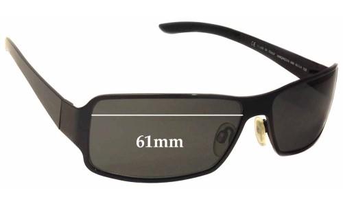 Sunglass Fix Sunglass Replacement Lenses for Alexander Mqueen AMQ 4023/S - 61mm Wide