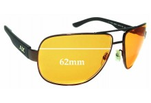 Sunglass Fix Sunglass Replacement Lenses for Armani Exchange AX 2012S - 62mm Wide