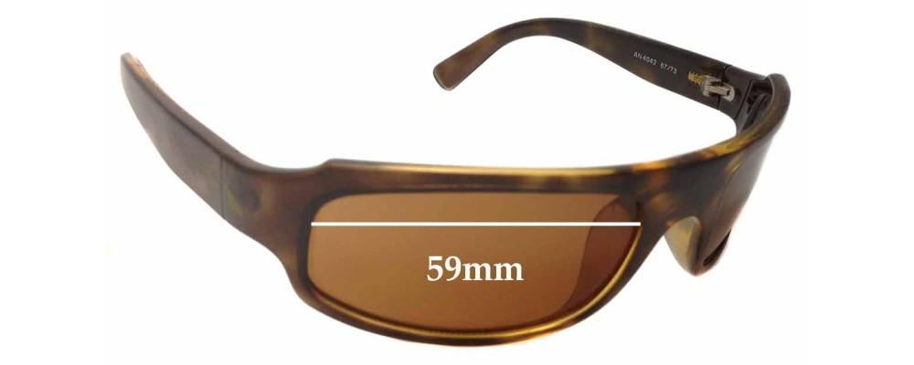Sunglass Fix Replacement Lenses for Arnette AN4042 - 59mm Wide