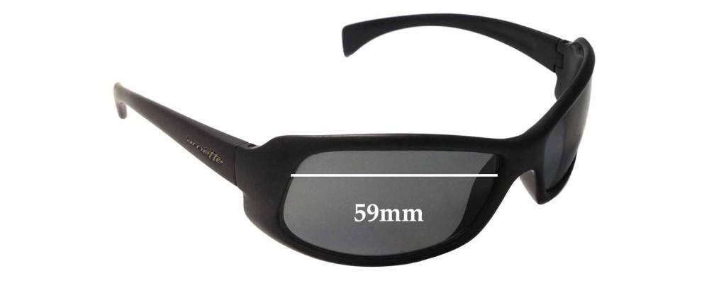 Sunglass Fix Sunglass Replacement Lenses for Arnette AN4044 - 59mm Wide