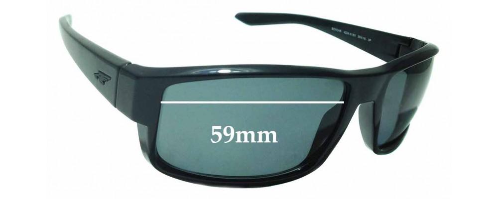 Sunglass Fix Sunglass Replacement Lenses for Arnette Boxcar AN4224 - 59mm Wide