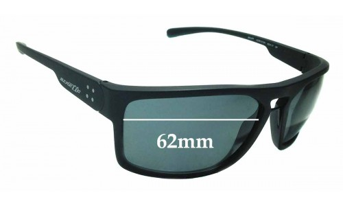 Sunglass Fix Sunglass Replacement Lenses for Arnette Brapp AN4239 - 62mm wide
