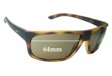 Sunglass Fix Sunglass Replacement Lenses for Arnette Burnout AN4225 - 64mm Wide