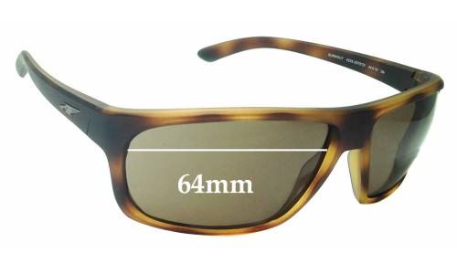 Sunglass Fix Sunglass Replacement Lenses for Arnette Burnout 4225 - 64mm Wide