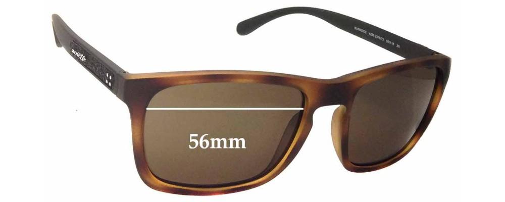 Sunglass Fix Sunglass Replacement Lenses for Arnette Burnside AN4236 - 56mm Wide